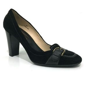 Tod's Black Suede Buckle Pumps NEW WITHOUT BOX